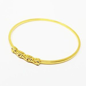 Monet Gold Tone Classic Bangle Rope Detail